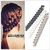 Haareinsatz, Haar Zopf Flechter Zopf Stylist Haar-Flechtwerkzeug Roller,-Duttkissen, 2Stück
