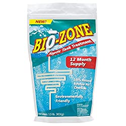 Bio-Zone Septic Tank Treatment 100% Natural Solution No Chemicals 1 Year Supply Environmentally Friendly (1 year suply)