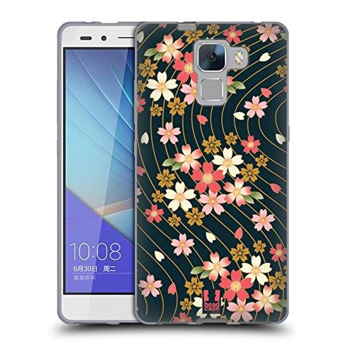 Head Case Designs Ciliegi In Fiore Lacche Cover Morbida In Gel Per Huawei Honor 7