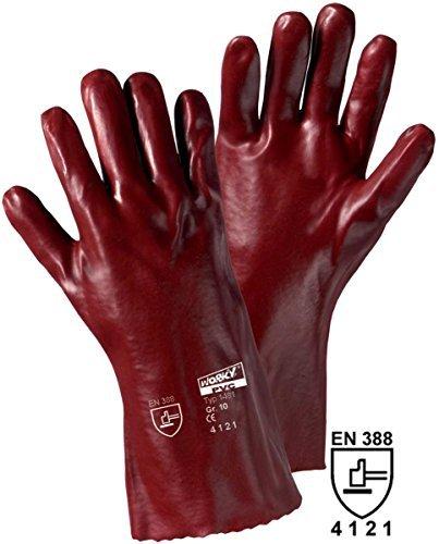 Gants de protection Leipold + Döhle 1481 PVC EN 388 RISQUES MECANIQUES 4121 Taille 10 (XL)