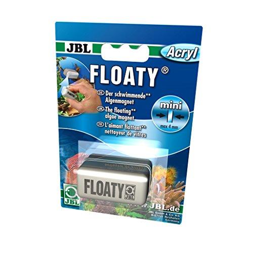 JBL Floaty Acryl 6137000 Schwimmender Scheiben-Reinigungsmagnet für Aquarien mit Acrylscheiben