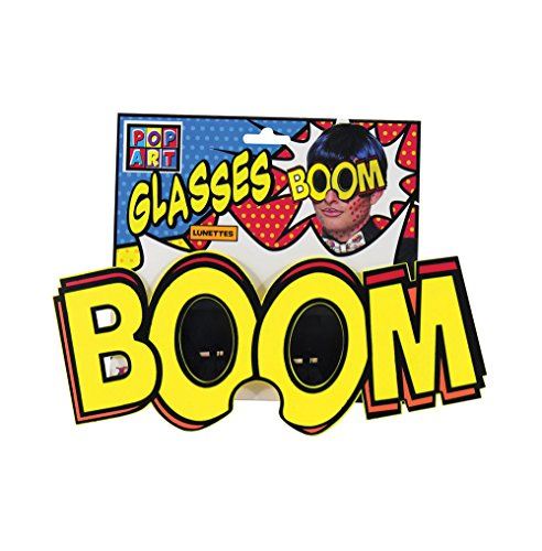 Forum Novelties 77174 Pop Art Jumbo Boom Gläser, One Size