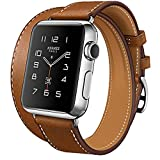 Best Hermes Amici Band - Apple-Band, Dual Loop-Cinturino in vera pelle per orologio Review