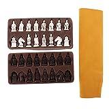 Baoblaze Altes Schachspiel mit Chinesischen Figuren - S