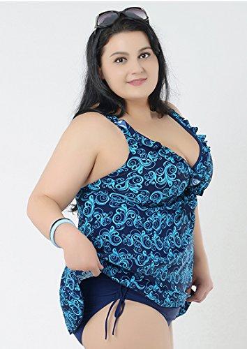 Damen große größen badekleider mit röckchen badekleid Blau