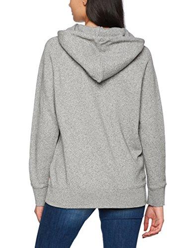 Levi's Damen Kapuzenpullover Graphic Sport Hoodie Grau (Sportswear Hoodie Batwing Smokestack Htr 0003)