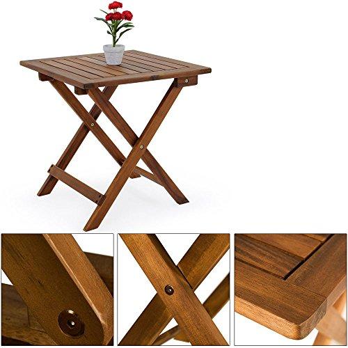 beistelltisch klapptisch holztisch gartentisch kaffeetisch. Black Bedroom Furniture Sets. Home Design Ideas