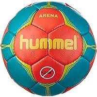 Hummel - Balón de Balonmano Unisex Arena, Color Nasturtium/Viridian/Yellow, tamaño 3