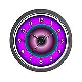 CafePress couleurs néon Standard-Horloge murale-Multicolore