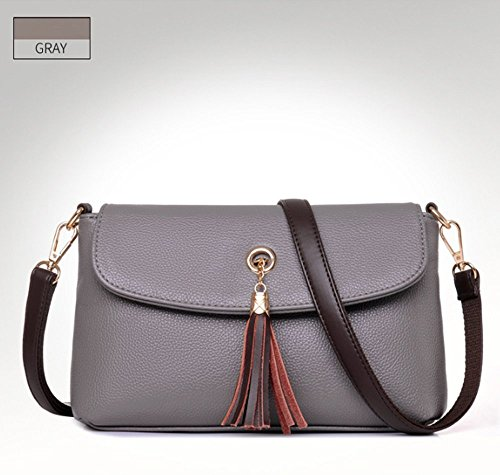 Eysee, Borsa a tracolla donna Nero Light grey 27cm*15cm*8cm Light grey