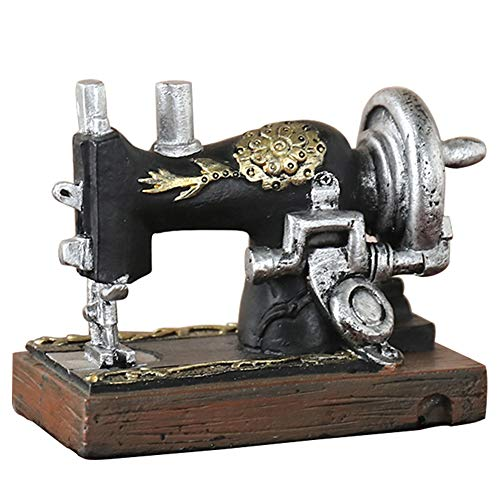 huangThroStore Mini máquina de Coser Adornos de Resina Vintage decoración Manualidades para el hogar Oficina, B