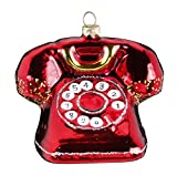 Inge-Glas Christbaumschmuck Retro Telefon 9/7cm