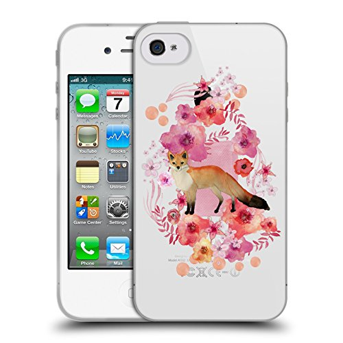 Ufficiale Monika Strigel Giraffa Animali E Fiori 2 Cover Morbida In Gel Per Apple iPhone 6 Plus / 6s Plus Volpe
