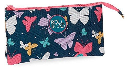 Roll Road Spring Butterfly Neceser de Viaje, 22 cm, 1.32 Litros, Multicolor