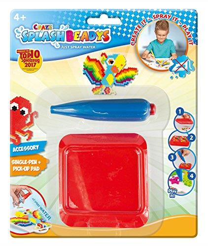 CRAZE 15940 Splash Beadys - Rotulador Individual con Pizarra, Color Rojo
