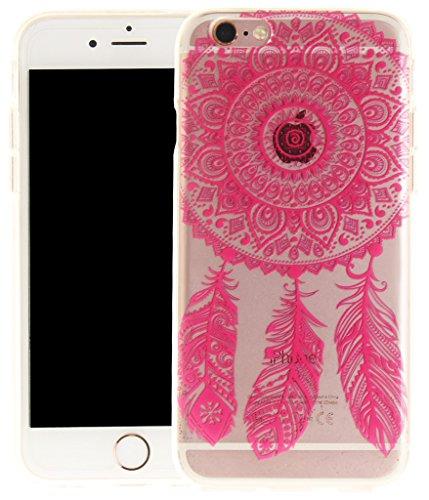 Nnopbeclik [Coque Iphone 6 Silicone / Coque Iphone 6S Apple ] Transparente élégant Style de Impression Couleur Motif Doux Backcover Case Housse pour Iphone 6 Coque Apple / Iphone 6S Coque Silicone (4. dreamcatcher1