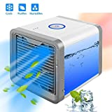 #2: Piyuda Portable Air Conditioner with Built-In LED Mood Light (White)