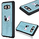 Galaxy J5 2016 Protective Shell, GrandEver Silicone Armor Protective Case Blue Cute Dog Pattern Full Body Tough Cover Silicone Bumper Back Case Shockproof Protection Shell for Samsung Galaxy J5 2016
