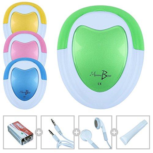 Monsieur Bébé  Doppler Fetal + Gel + Pila + Auricular + Cable Audio para...