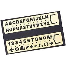 Amupper Latón Plantillas de Letras y Números Con Las Porciones de Símbolos, ...