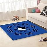 JIAO DE Wohnzimmer Dekoration Teppich Bodenfliesen Modernen Minimalistischen Stil Teppich China Gossip Muster Schlafzimmer Rutschfeste Teppich China Gossip Pattern Einfach zu Reinigen Teppiche
