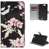 Para Huawei Ascend G7 Funda , TUTUWEN Retro Billetera Magnética PU Cuero Flip Card Slot Stand Protector Carcasa Tapa Case Cover Para Huawei Ascend G7 / Huawei G7-L01 / G7-L03