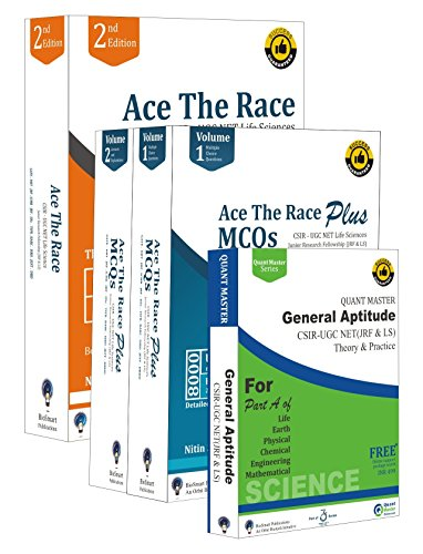 Ace The Race Combo 4: CSIR-UGC NET Life Sciences (Ace The Race, Ace The Race Plus & General Aptitude) (Combo 4)  available at amazon for Rs.2699