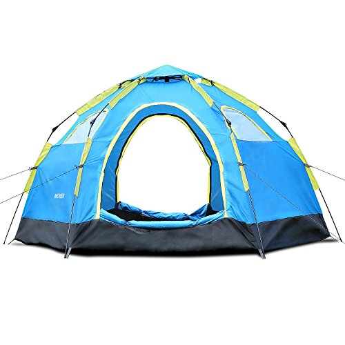 Ancheer Automatik Camping Zelt Wasserdichtes Pop Up Zelt Kuppelzelt Familienzelt für 4 Personen mit Tragetasche für Outdoor Sport, Wandern, Reisen, Strand