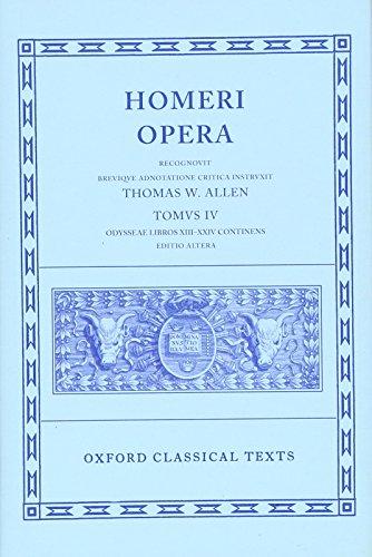 Homer Vol. IV. Odyssey (Books XIII-XXIV) (Oxford Classical Texts) Allen Oxford