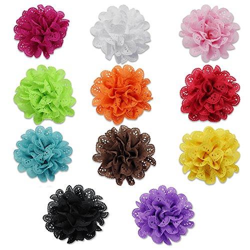 Preisvergleich Produktbild PsmGoods® Babys nette Stirnband Haar beugt Multicolor -Haar-Wrap für Neugeborene Kinder und Kleinkinder Packung mit 11 (Big Flower)