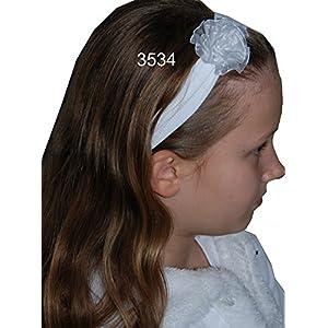 Helgas Modewelt Heppiedi, Haarband für Kinder, Haarschmuck zur Kommunion