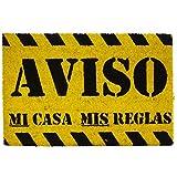 koko doormats Felpudo con Diseño Aviso, PVC, Coco, 60 x 40 cm