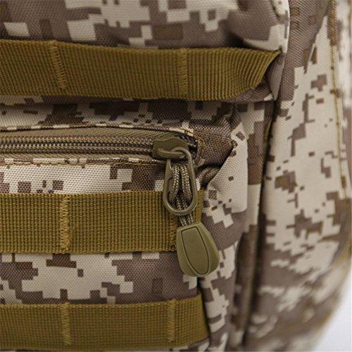 F@Zaino tattico nylon impermeabile, sacchi, Campeggio attacca i pacchetti campo Camo zaino outdoor caccia Zaini, Digital Camo , C C