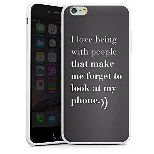 Apple iPhone X Silikon Hülle Case Schutzhülle Telefon Liebe Sprüche Silikon Case weiß