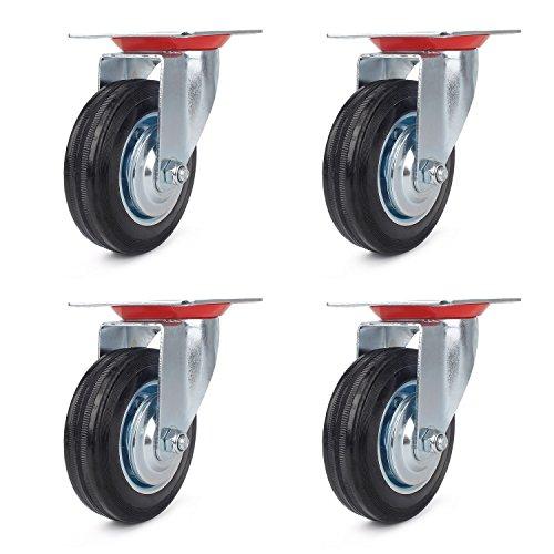 5 Stück Caster Wheels Bürostuhl Lenkrollen Gummi Schwenkrollen Möbelrollen