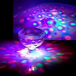 AddLiving - Juego de 2 luces led de discoteca flotantes y sumergibles para baños, spa o piscinas