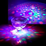 AddLiving - Juego de 2 luces led de discoteca flotantes y sumergibles para...