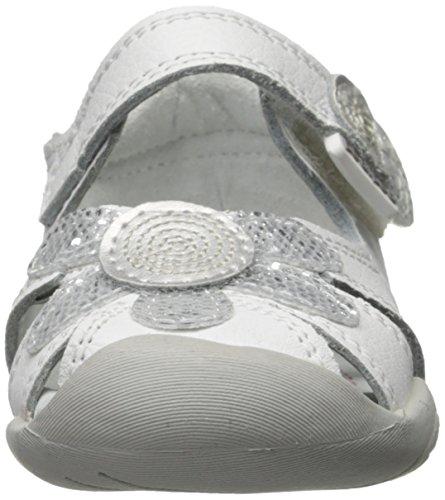 Pediped Daisy, Premiers pas Sandales Bébé Fille Blanc (White Silver)