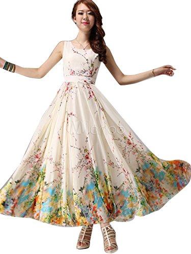 Woman style Women\'S Dress (woman Frock Dress_White_Free Size)