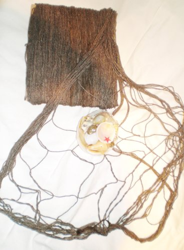 Fischernetz antik braun 400 x 200 cm (Dekorative Fischernetz Braun)