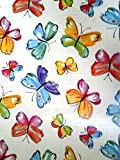 GLASS FILM WALA FROSTED BACKGROUNG WITH BUTTERFLY SELF PRINTS (45cmX100cm)