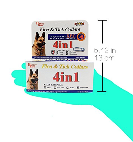 fengge 4in 1Tier männlich Schutz gegen Flöhe Eier Flohmarkt Mücken X Set Schaft (Große Hunde,)