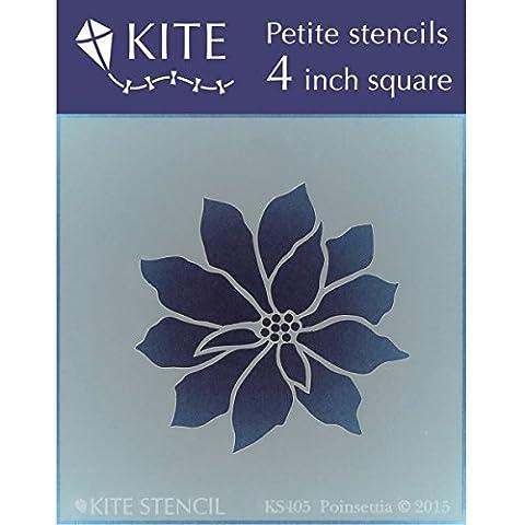 Judikins KS405 Kite Petite Stencil, 4, Square-Poinsettia,