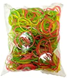 #5: SMARTBUYER Rubber Bands - 1 Inch Diameter,Multi Color Elastics Stretchy Band Hair Tie Ponytail Hair Rubber Band Holder for Kids/Girls/Women (50GSM)