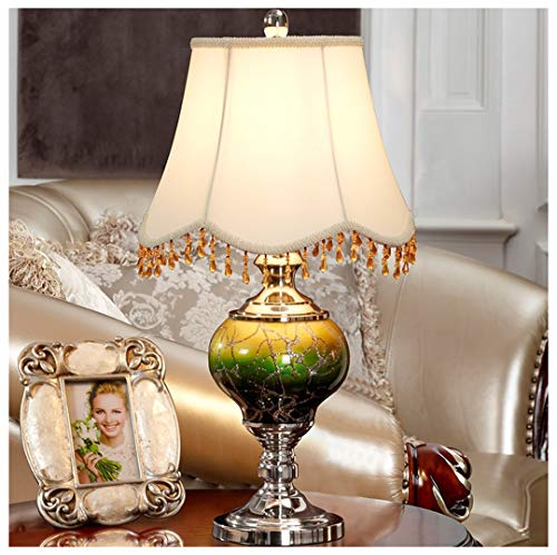 Fransen-mini-lampe (Tischlampe Tischlampe Europäische Schlafzimmer Nachttischlampe Luxus Dekorative Tischlampe 23,62 Zoll * 13,6 Zoll Wohnzimmer Lampe Wohnzimmer/Studie/Schlafzimmer Lampe)