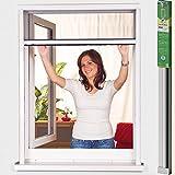 Easy Life PVC Insektenschutz-Rollo greenLINE Maßzuschnitt für Fenster Fliegengitter Insektenrollo Individuell kürzbares Fensterrollo als Mückenschutz, Farbe:Weiß, Maße:125 x 150 cm