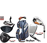 MacGregor DCT Elite Steel Mens Golf Package Set Deluxe Tourney Plus Cart Bag New 2017. Steel Shafted Irons & Graphite Shafted Wioods