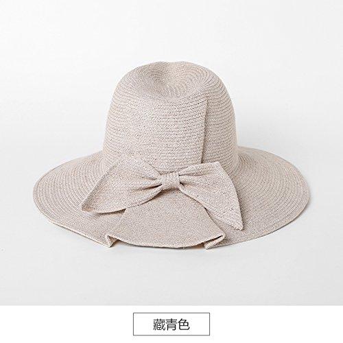 LLZTYM Chapeau De Paille/Chapeau De Plage/Dame/Été/Parasol/Pliant/Grande Casquette/Tête/Cadeau/Cadeau white