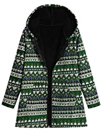BaZhaHei Mujer Abrigo Invierno Mujer Chaqueta Suéter Jersey Mujer Cardigan Mujer Tallas Grandes Outwear Floral Bolsillos