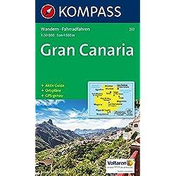 Carta escursionistica n. 237. Spagna. Isole Canarie. Gran Canaria 1:50.000. Adatto a GPS. Digital map. DVD-ROM: Wandelkaart 1:50 000